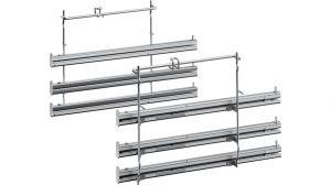 Plně výsuvné kolejničky, po 3 kusech, trouba Bosch / Siemens - 17003896