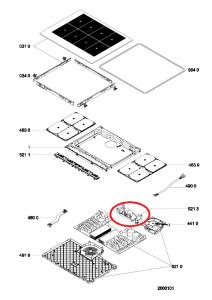 modul varná deska Whirlpool / Indesit - C00508229