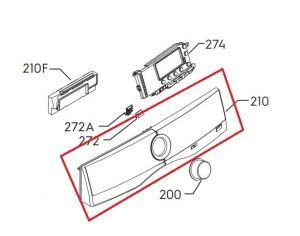 Panel pračka Electrolux - 4055381604