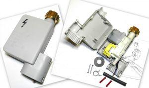 ventil aquastop pračka, myčka, servisní sada pro výměnu aquastop ventilu, vč. spony, spojek a smršťovací bužírky, 230V, modely myček do r.v. 1999 - 00091058 Bosch / Siemens