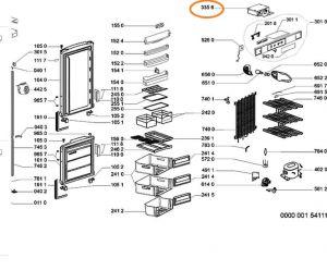 Modul lednička Whirlpool / Indesit - 481221470027