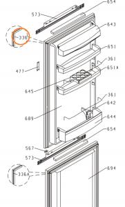 Těsnění lednička Gorenje - 250100