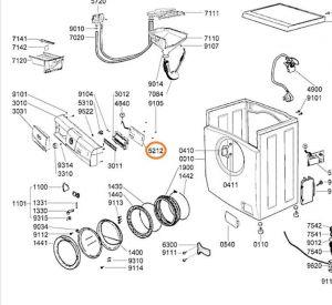 Modul pračka Whirlpool / Indesit - 481221470675