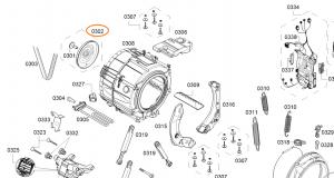 Řemenice pračka BSH - 12031902