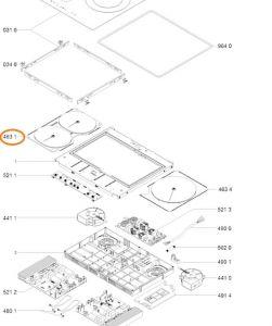 Topné oválné těleso varných desek Whirlpool Indesit Ariston - 481010671434
