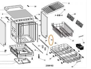 Panel myčka Whirlpool / Indesit - C00302148