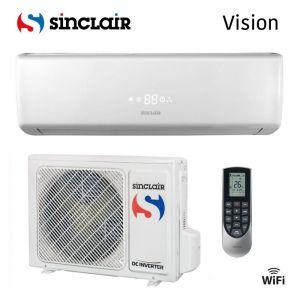 Dvoudílná Split nástěnná klimatizační jednotka ASH-12BIV Sinclair Vision pro místnosti do velikosti 90 m3.