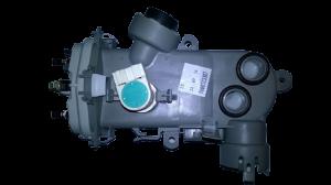 Těleso topné, čidlo teploty, motorek směrovače vody myček nádobí Bosch Siemens - 00498623