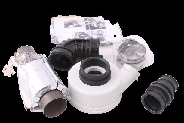 Těleso topné průtokové myček nádobí Whirlpool Indesit - servisní sada - 481010518499 Whirlpool / Indesit