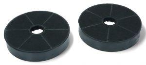 Uhlíkové filtry, 2 ks, Ø 170 mm, v 30 mm, odsavačů par Candy Hoover - 49002519