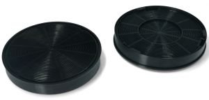 Uhlíkový filtr, sada 2 ks, Ø 196 mm, v 30 mm, odsavačů par Whirlpool Indesit - 481281718522