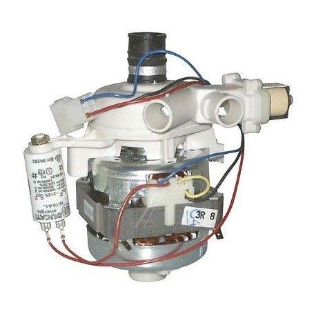 motor, čerpadlo cirkulační, oběhové do myčky Indesit, Ariston, Baumatic, Haier s 1 vstupem a 2 výstupy, s uzavírací klapkou - C00058140 Whirlpool / Indesit