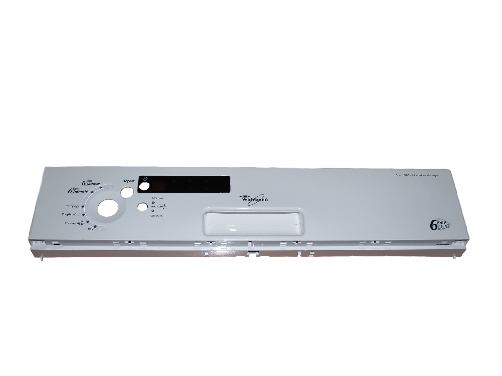 panel ovládací pro myčku Whirlpool - bílá barva - 481245371538 Whirlpool / Indesit