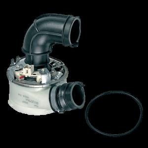 Těleso topné, průtokové topení, příruba oběhového čerpadla 1800 / 1960 W, myček nádobí Whirlpool Indesit Ariston Hotpoint - C00257904