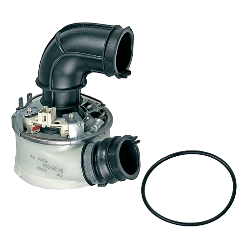 Těleso topné, průtokové topení, příruba oběhového čerpadla 1800 / 1960 W, myček nádobí Whirlpool Indesit Ariston Hotpoint - C00257904 Whirlpool / Indesit