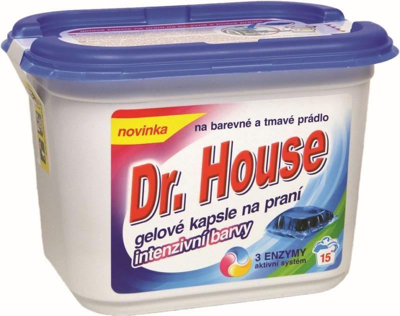 gel, polštářky, kapsle gelové na praní barevného prádla 15 ks Dr. House Ostatní