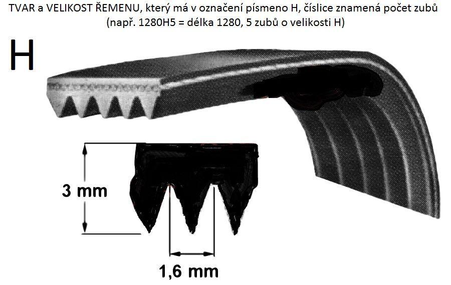 řemen 1220 H5 do pračky Gorenje - 633614 Gorenje / Mora