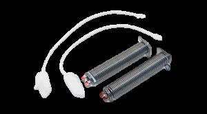 2x pružina pantu + 2x provázek (lanko) myčky Bosch a Siemens šíře 45 cm